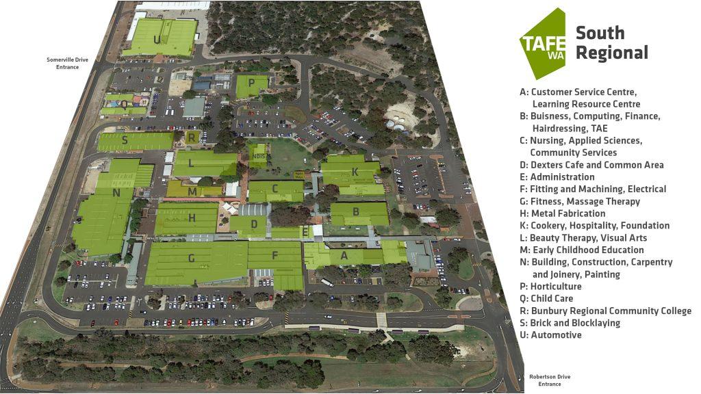 Bunbury Campus Map
